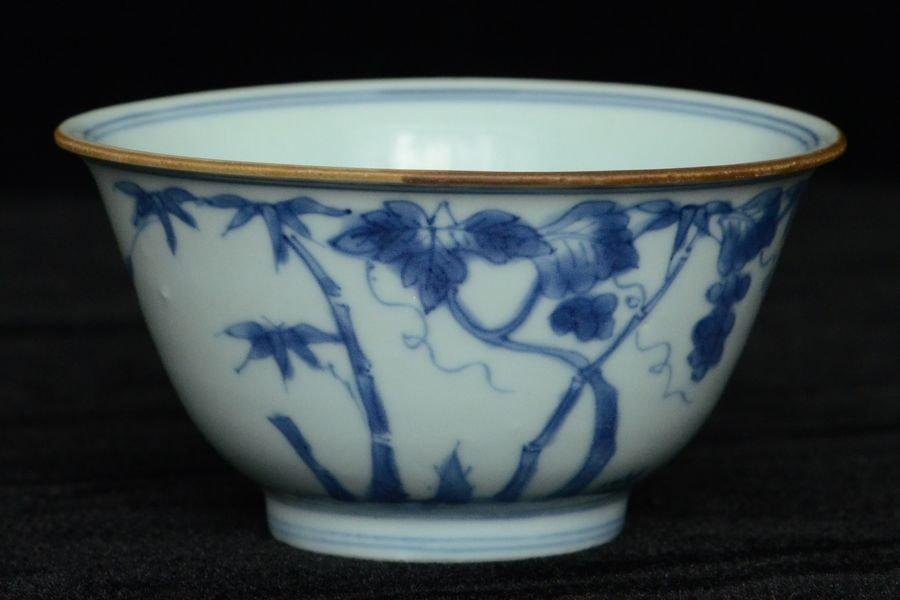 Chinese Blue and White Bowl Chenghua Mark Kangxi
