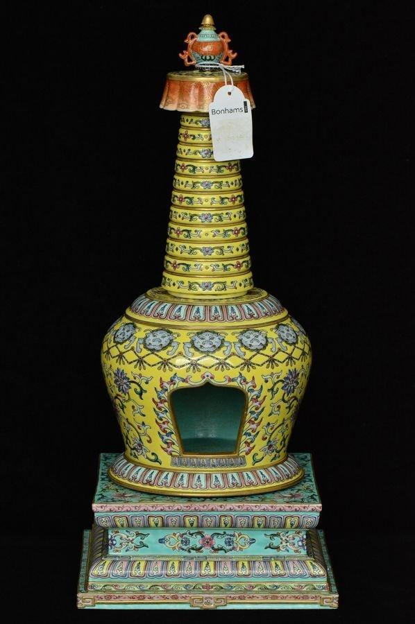 Chinese Famille Rose Pagoda Qianlong Period