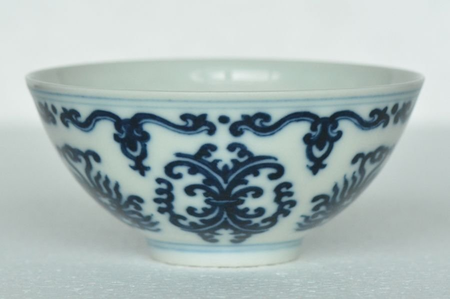 $1 Chinese Blue White Cup Yongzheng Mark & Period