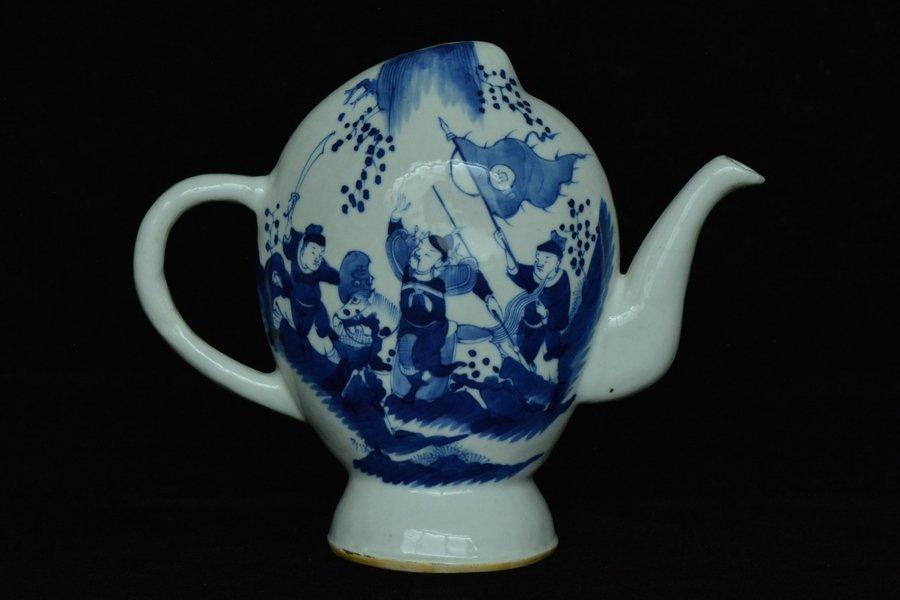 $1 Chinese Tea Pot Figure Maker's Mark 19th C