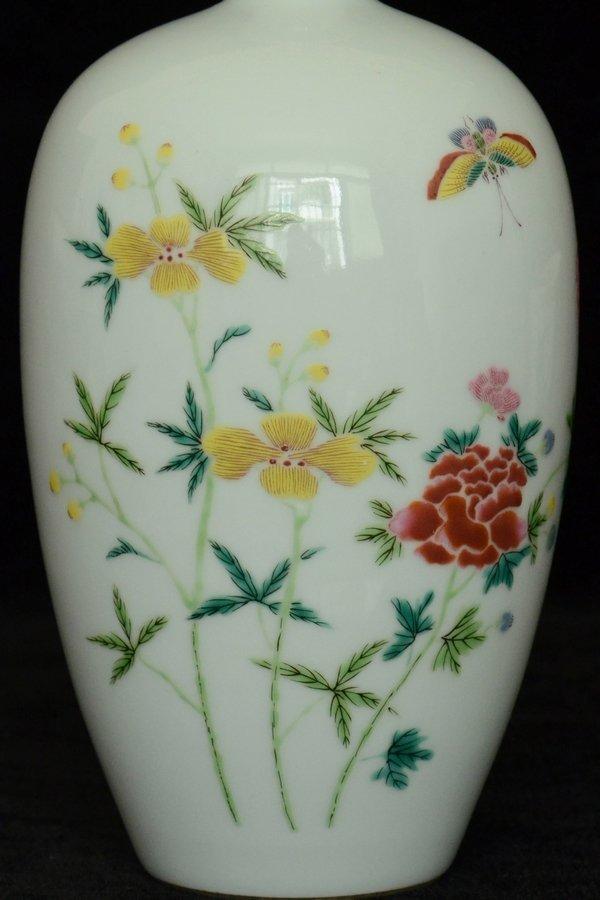 $1 Chinese Famille Rose Vase Yongzheng Period - 5