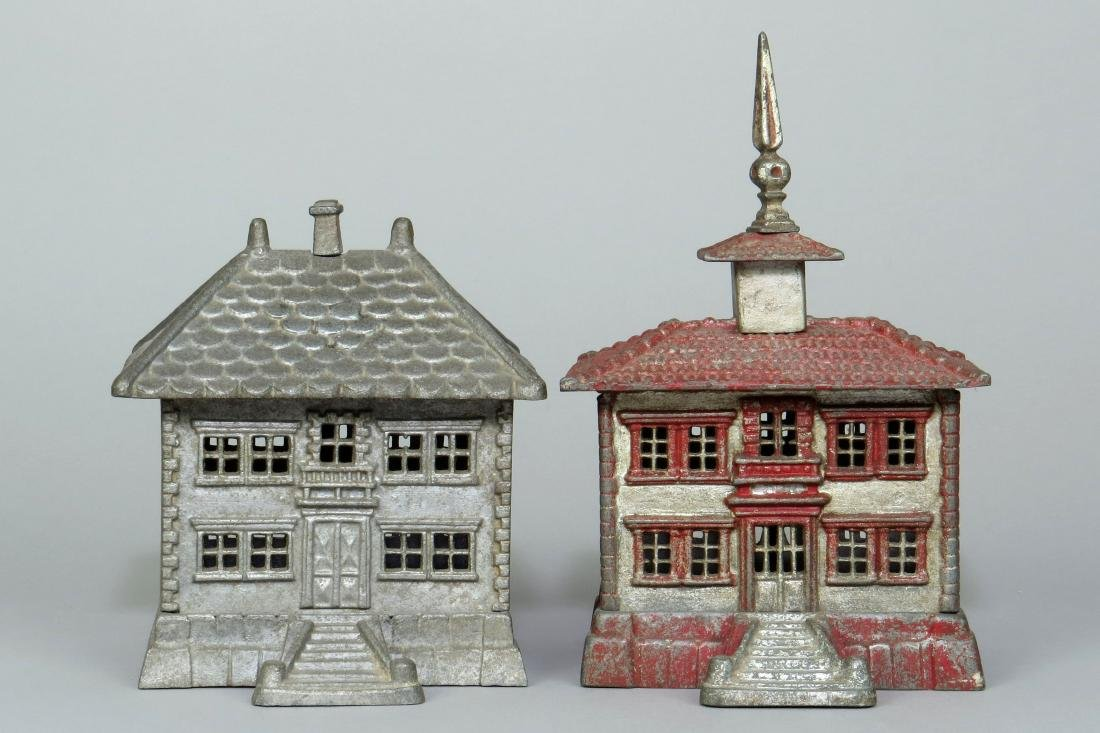 Lot of 2 Aluminum French Building Banks