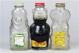 Lot of 3 Glass Bottle Banks