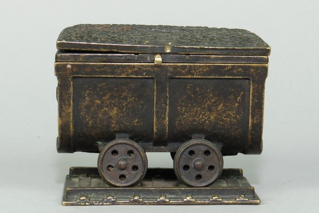 Brass Coal Car Bank