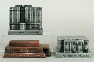 Lot of 3 PM Banthrico Building Banks