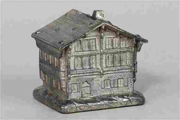 Lead Chalet w/Stones on Roof Bank