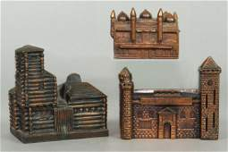 Lot of 3 PM Building Banks