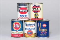 Lot of 5 Tin Advertising Banks