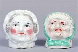 Lot of 2 Ceramic Bust Banks
