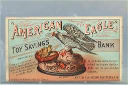 Paper Eagle and Eaglets Trade Card