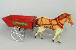 "Wood/Metal Gibbs ""Yankee Dump Cart"" Pull Toy"