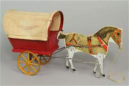Wood/Metal Gibbs One Horse Cuban Cart Pull Toy