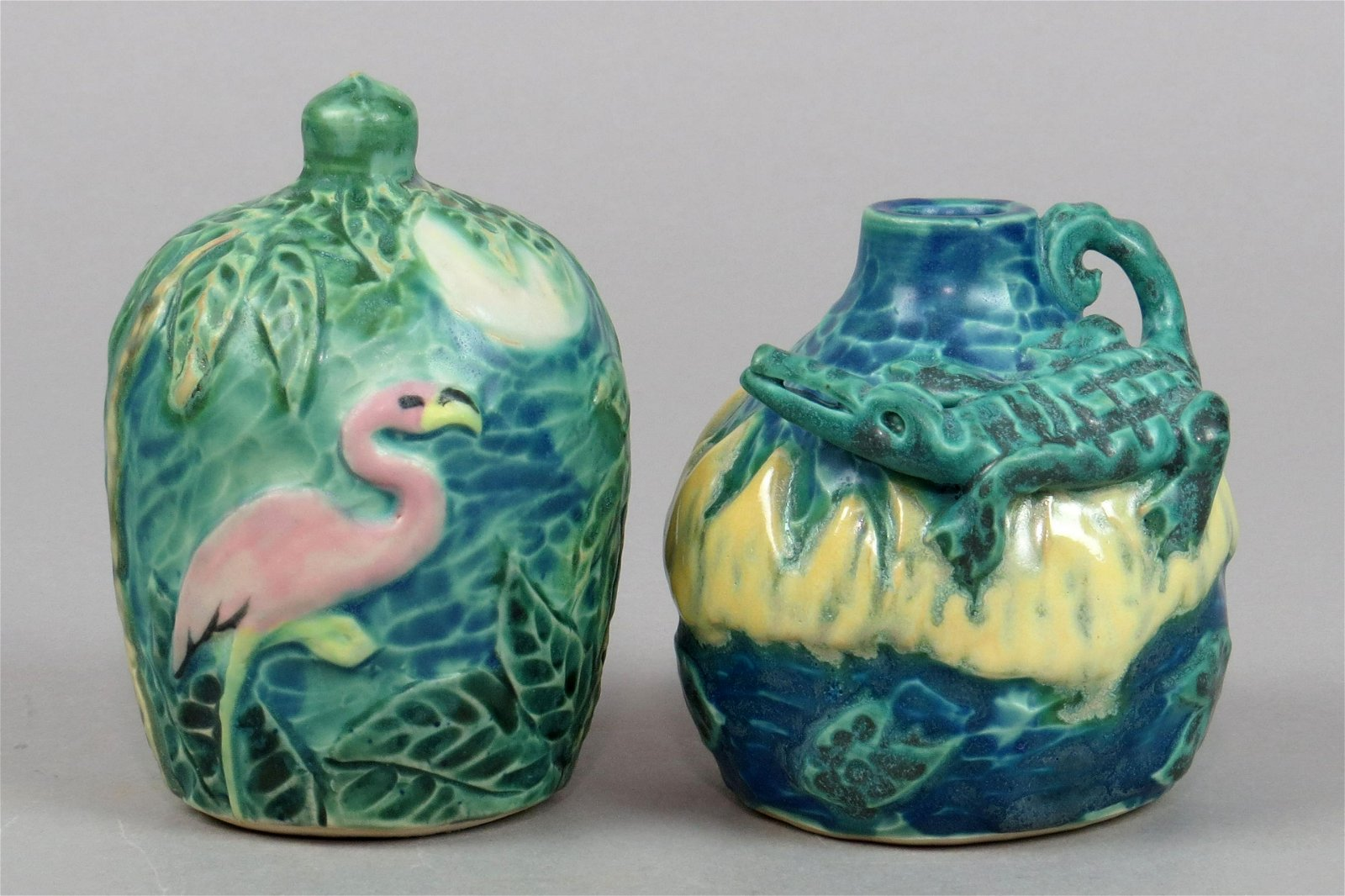 Lot of 2 Ceramic Florida Themed Banks