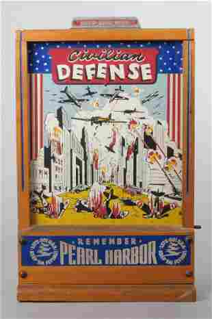 """""""Civilian Defense"""" Penny Drop Coin Operated Game"""