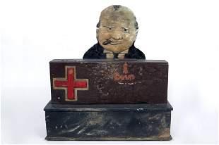 Wood Winston Churchill Victory Mechanical Bank