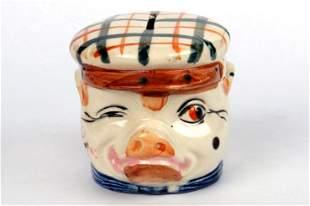 Ceramic Pig in Cap