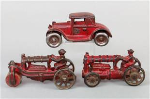 Lot of 3 CI/Wood Misc. Toys