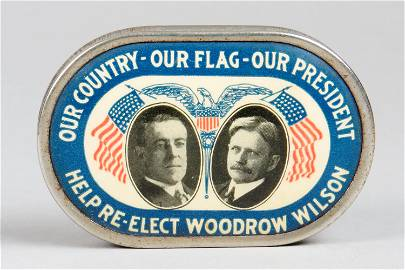 Celluloid Woodrow Wilson Pocket Bank