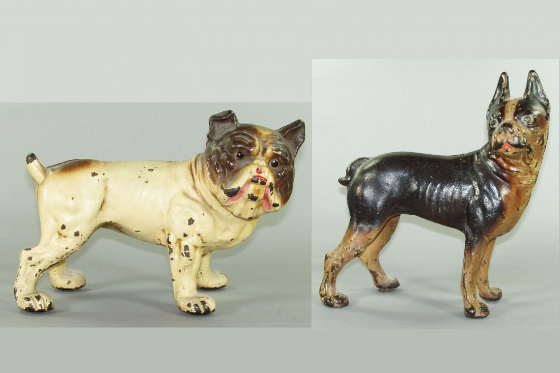 410: Lot of 2 Doorstops:  Bulldog; Boxer - CI