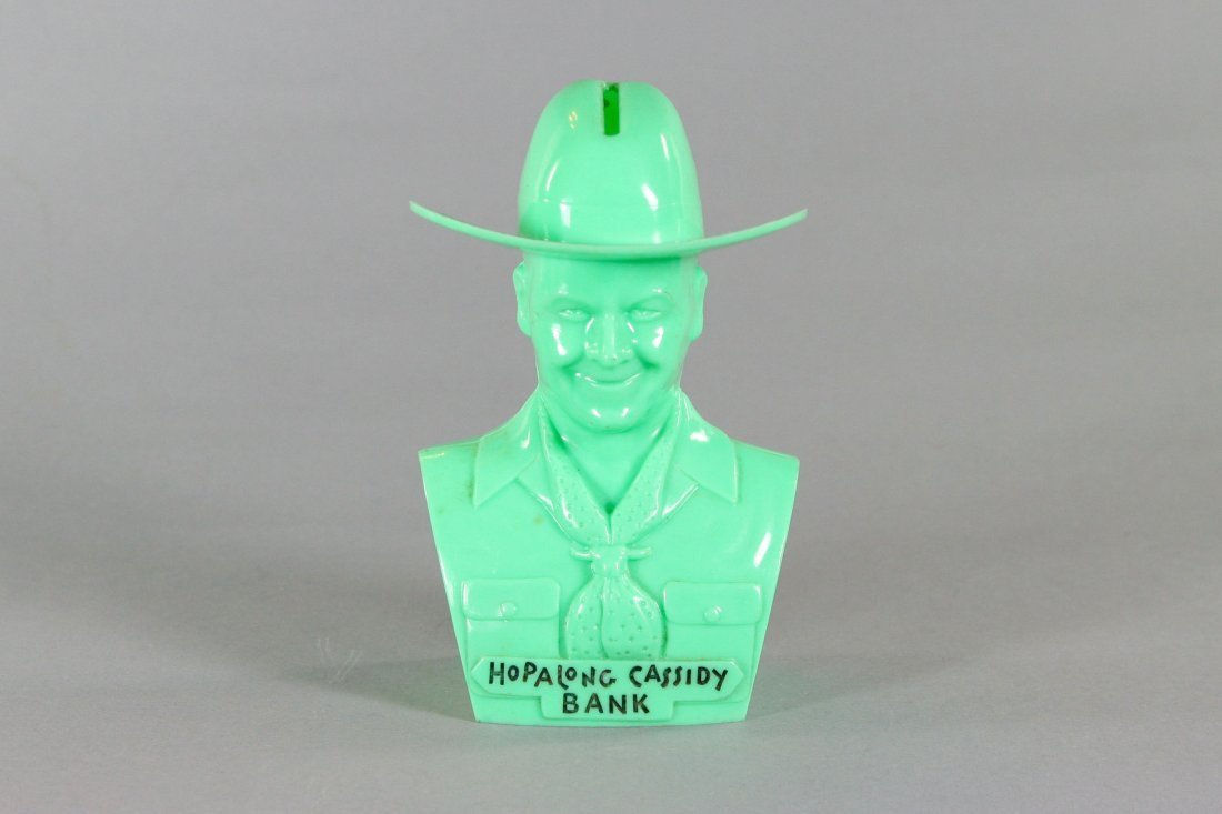"424: ""Hopalong Cassidy Bank"", green - P"