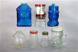 Lot of 7 Misc. Glass Banks