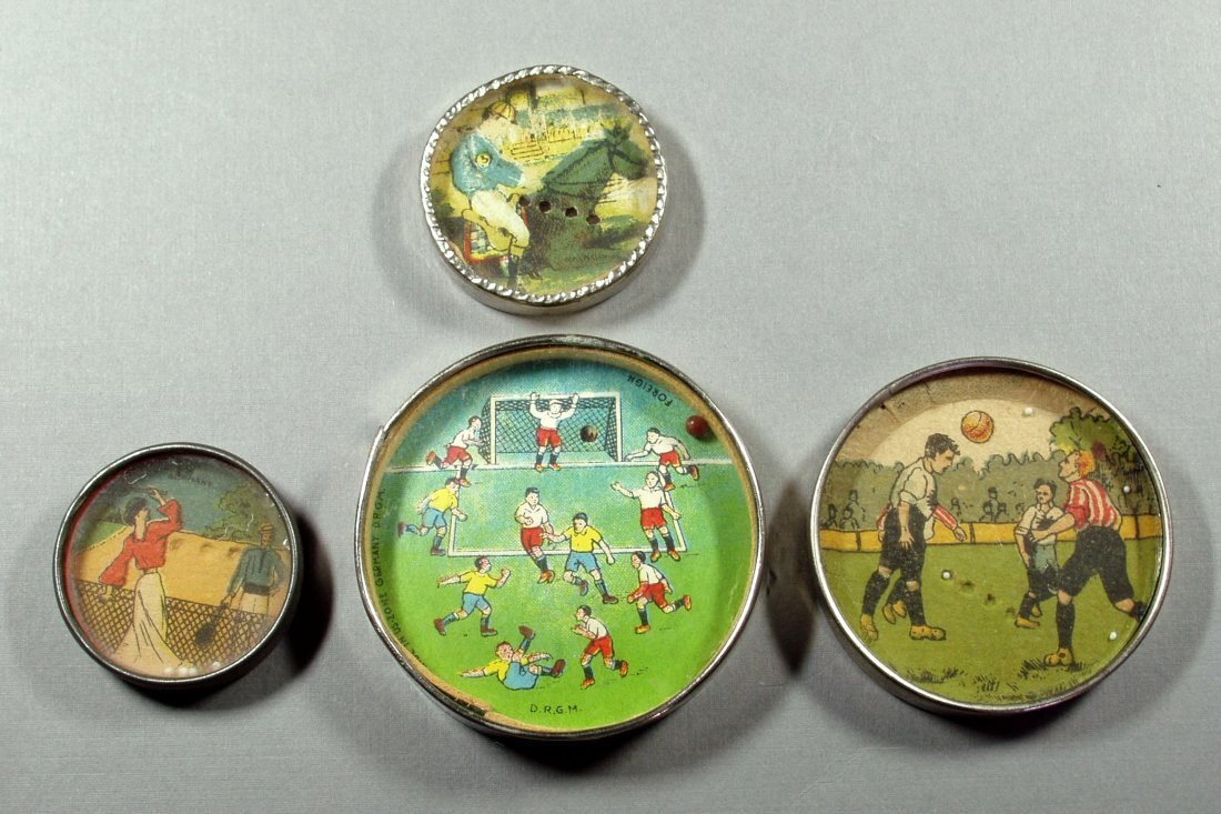 Lot of 4 Hand Held Sports Related Dexterity Puzzles