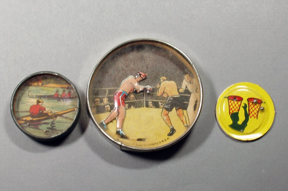 Lot of 3 Hand Held Sports Related Dexterity Puzzles