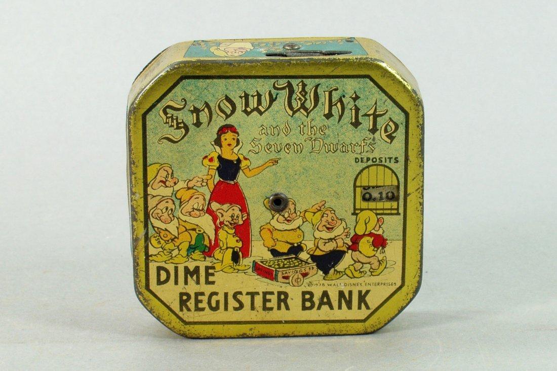 """Snow White"" Dime Register Bank"