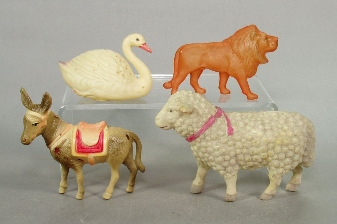 Lot of 4 Celluloid Animals
