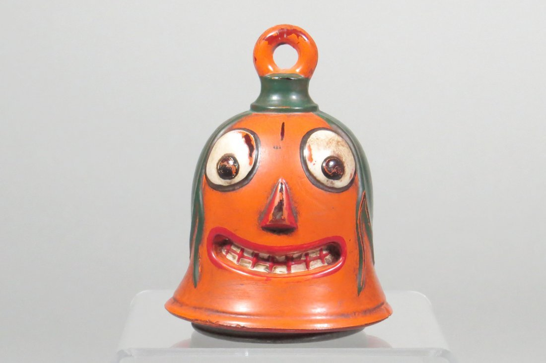Gobblin Head Glass Candy Container