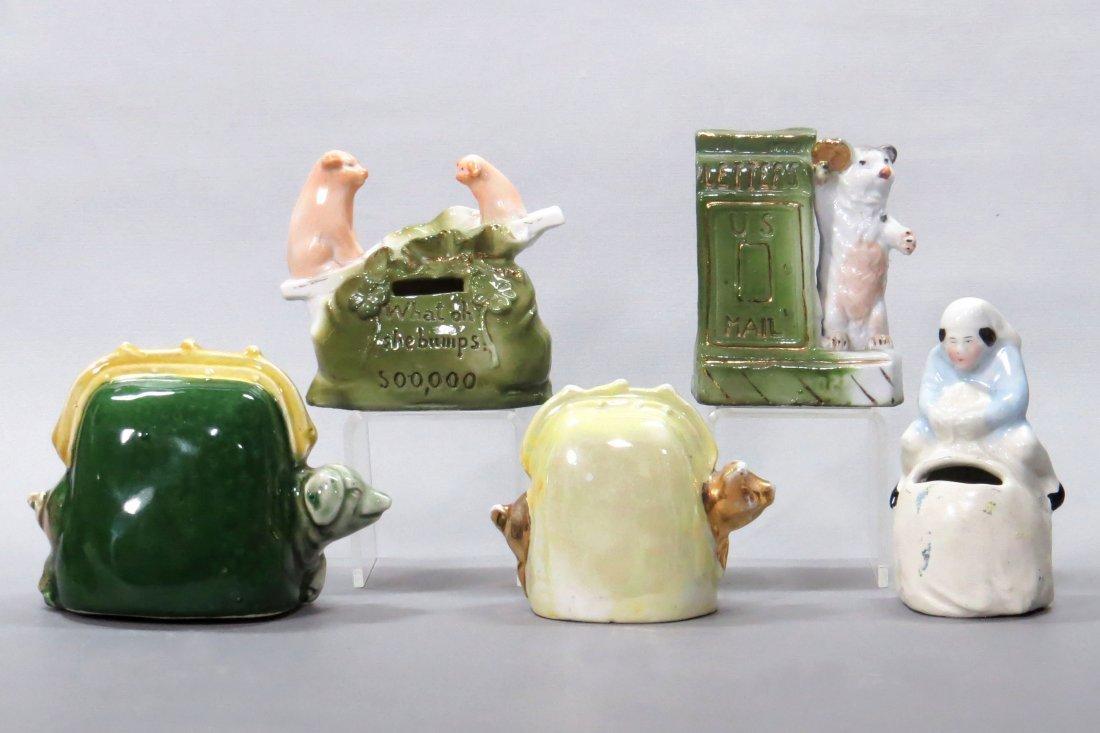 Lot of 5 Ceramic Banks