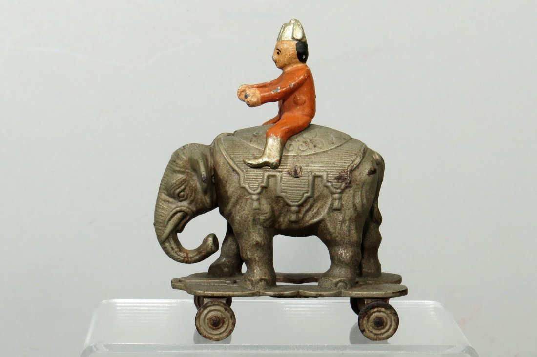 CI Elephant on Wheels w/Clown Rider