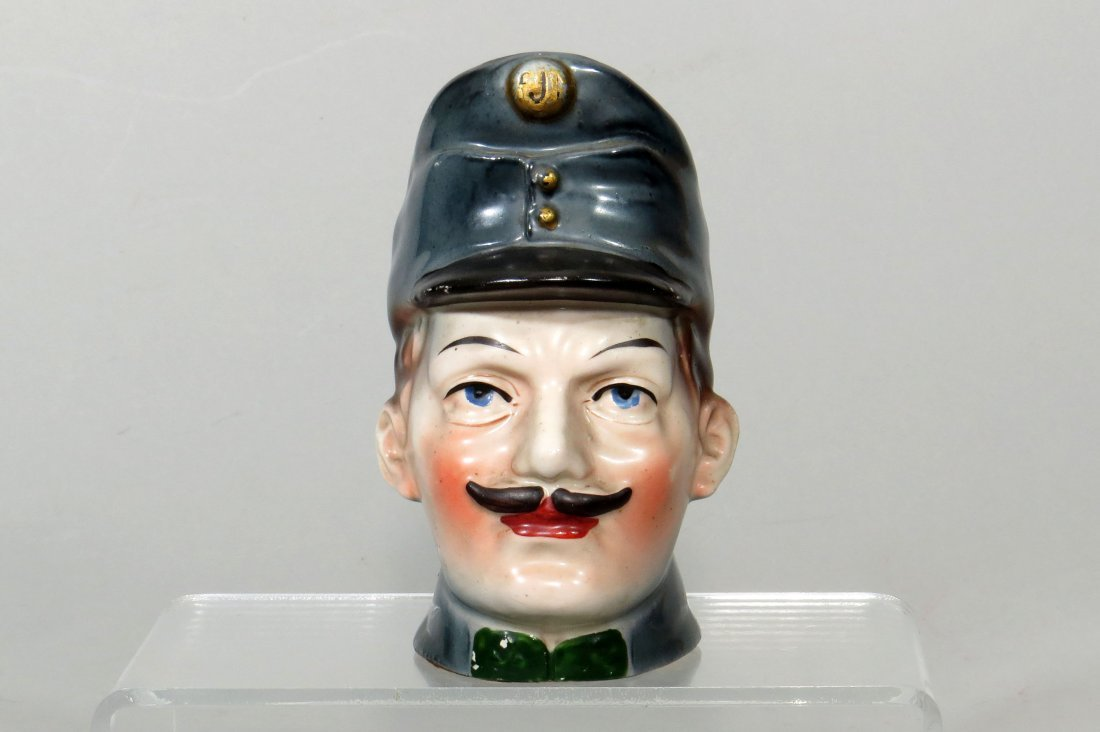 Ceramic WWI Bust Bank