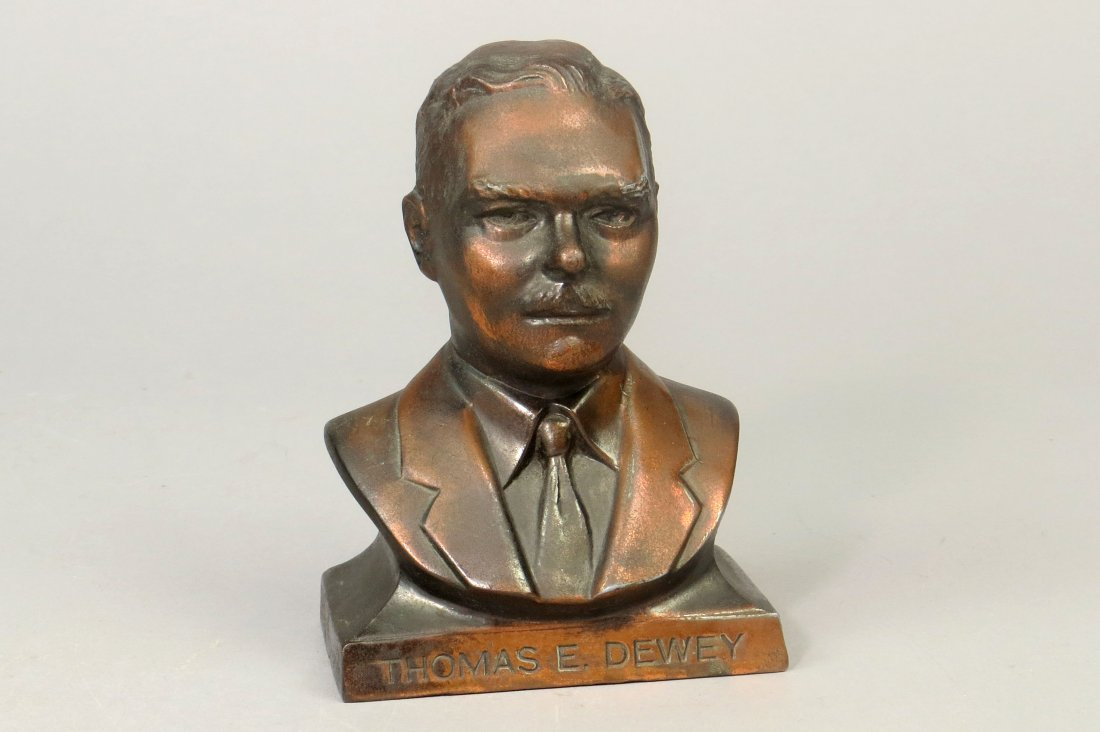 "Pot Metal ""Thomas E. Dewey"" Bank"