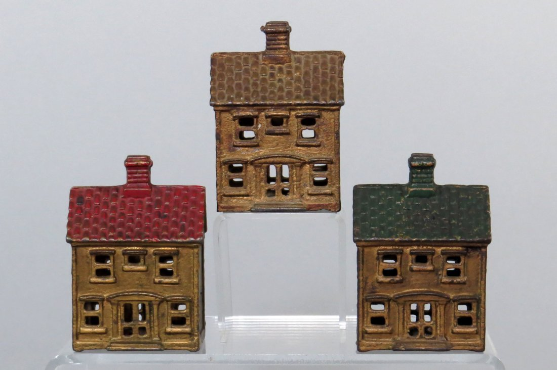 Lot of 3 Two Story House Banks