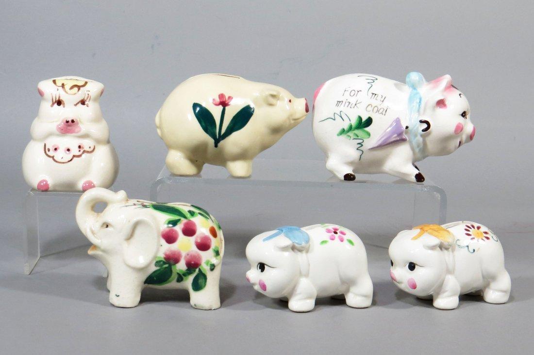 Lot of 6 Ceramic Banks