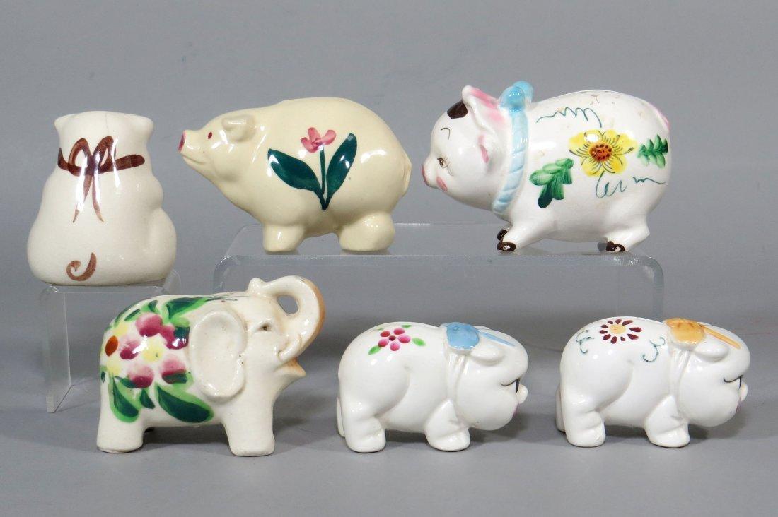 Lot of 6 Ceramic Banks - 2