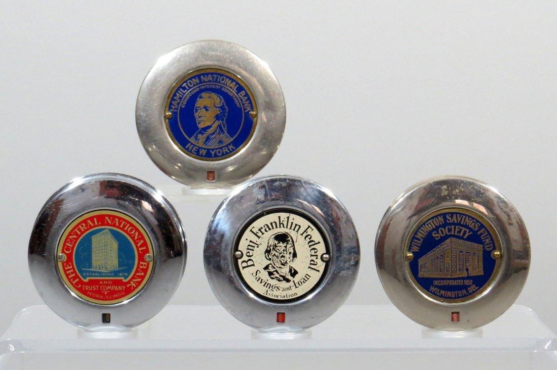 Lot of 4 Round Chrome Pocket Banks