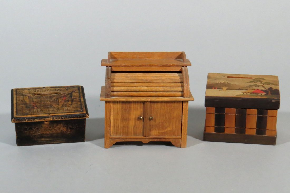 Lot of 3 Wood Banks
