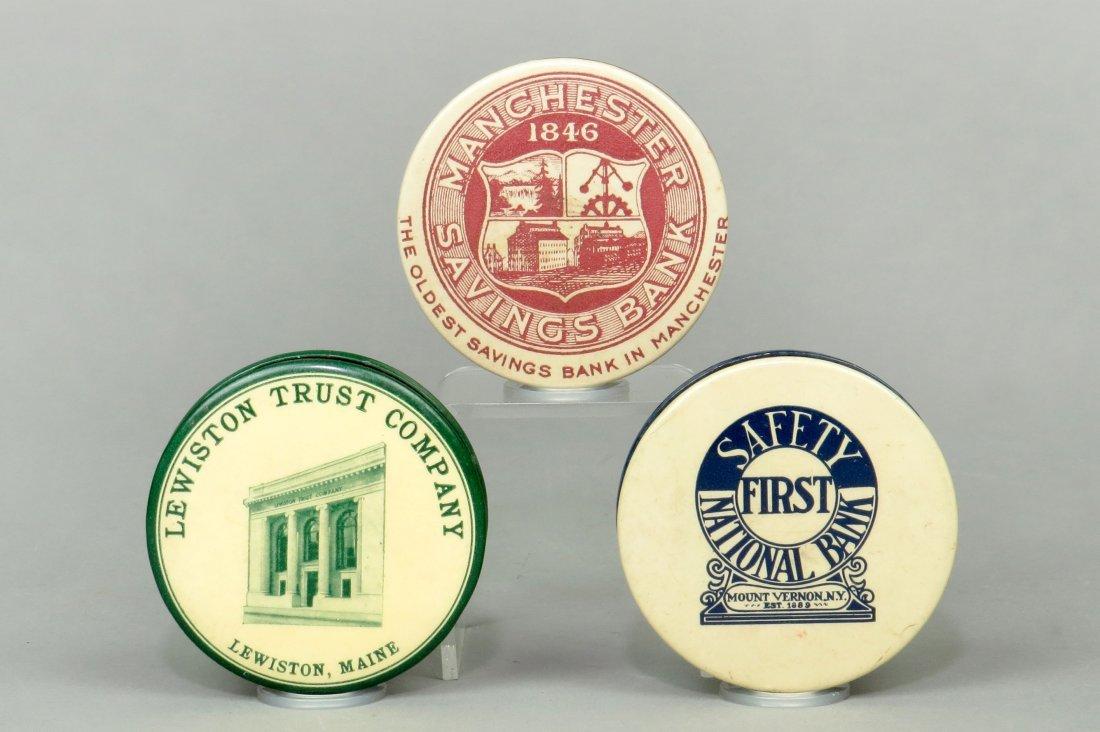 Lot of 3 Celluloid Pocket Banks
