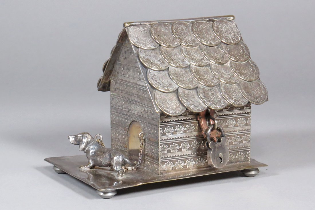 Lead Dog and Doghouse w/Coin Shingles Bank