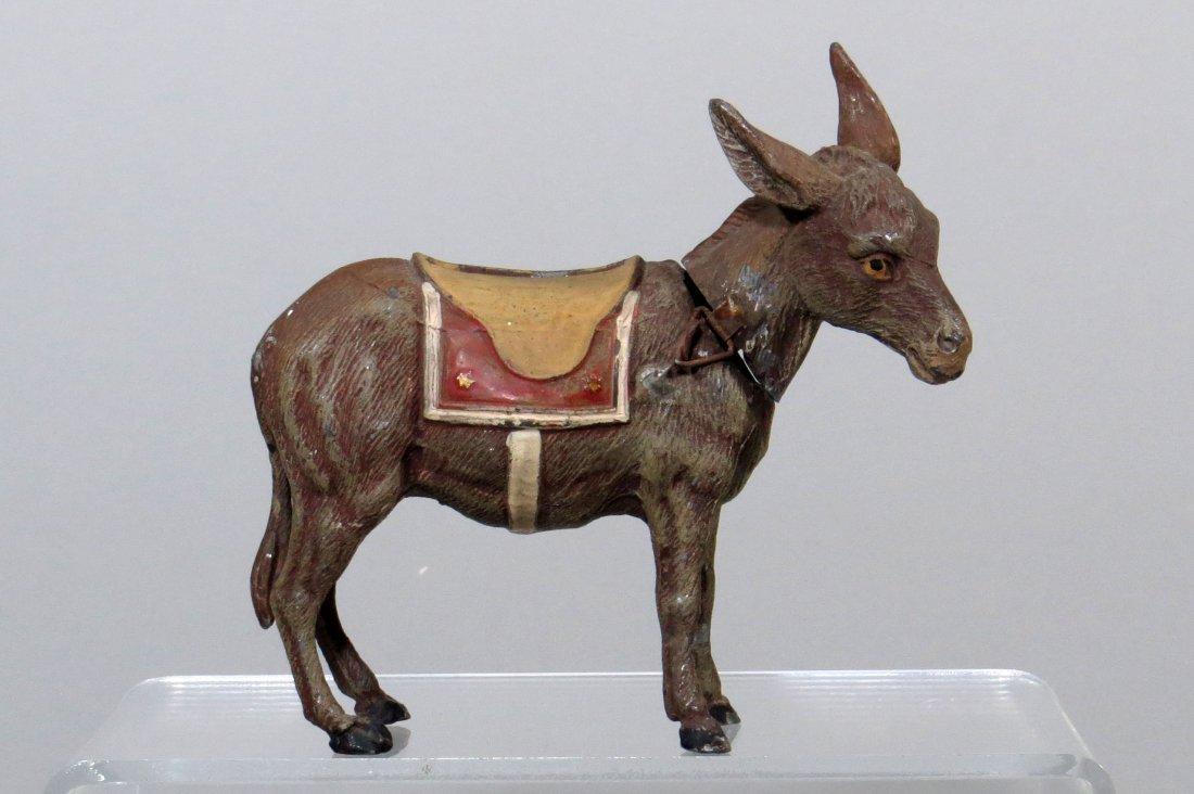 Spelter Donkey w/Hinged Neck Bank