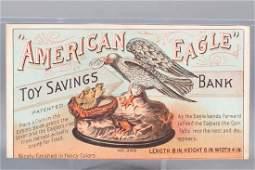 Paper American Eagle Trade Card
