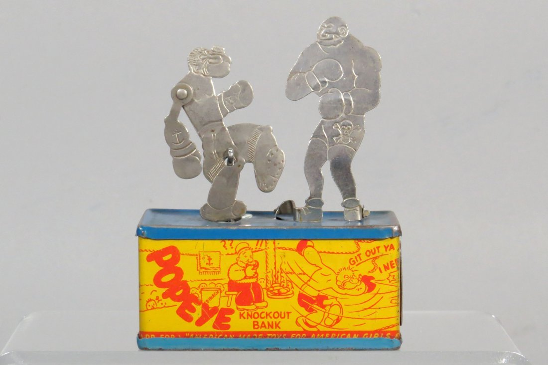 """Tin """"Popeye Knockout Bank"""""""
