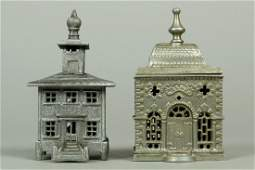 Lot of 2 French Building Banks