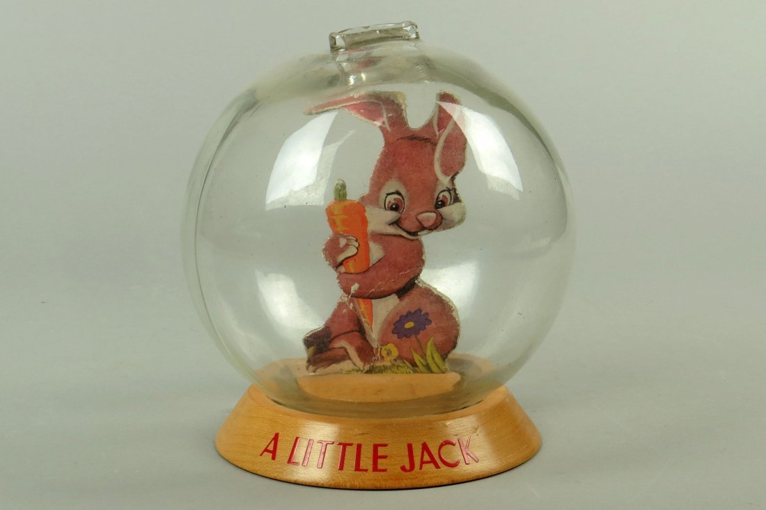 "Wood and Glass ""A Little Jack"" Bubble Bank"