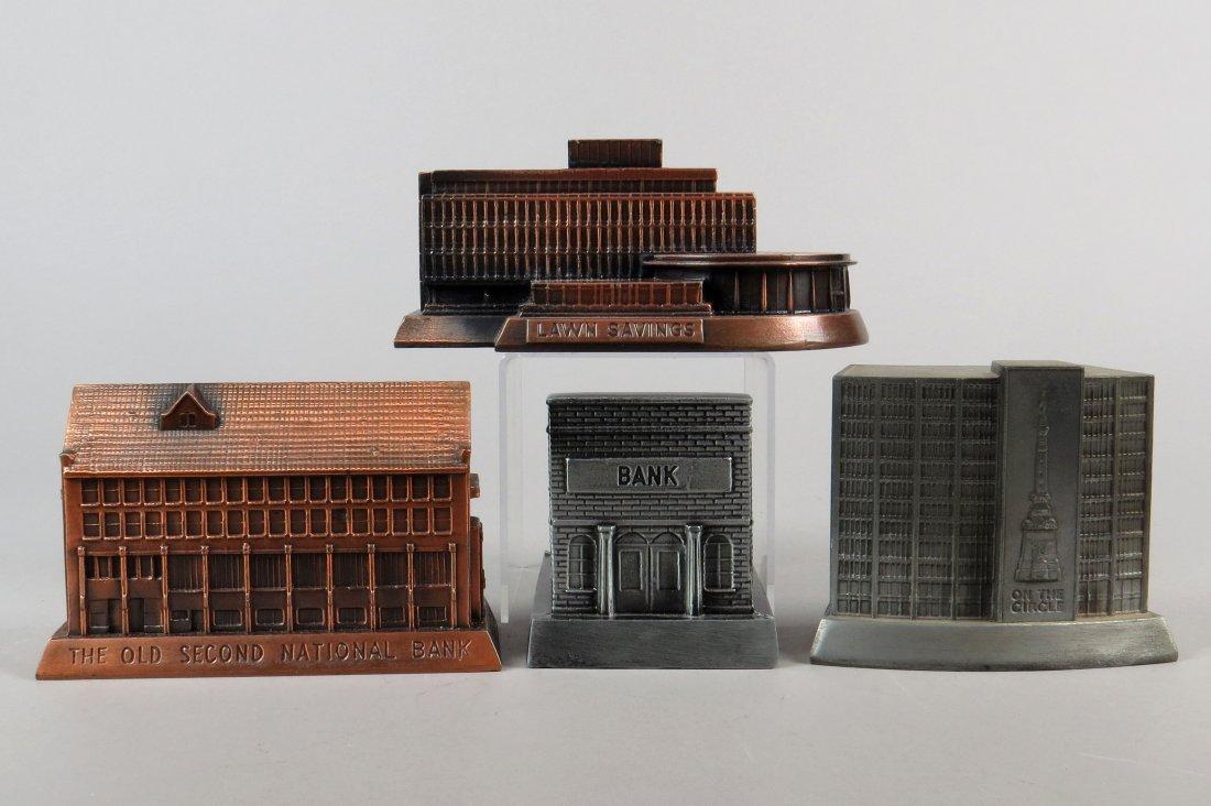 Lot of 4 Pot Metal Banthrico Building Banks