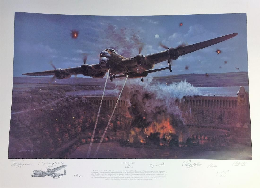 Dambuster World War Two print 24x33 titled Primary