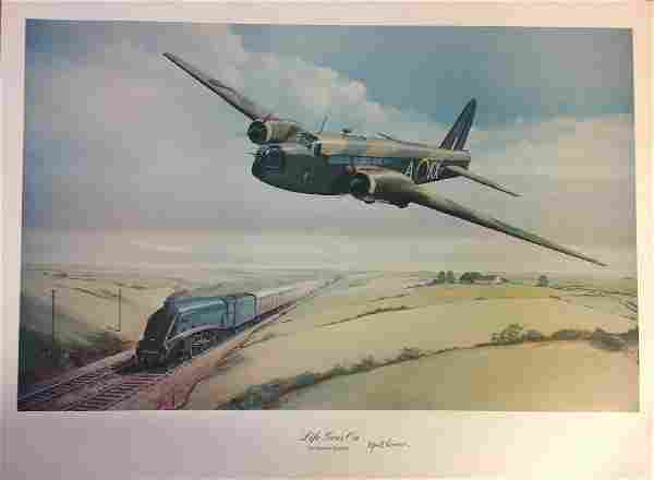 Dambuster World War Two Print 19x26 titled Life Goes on