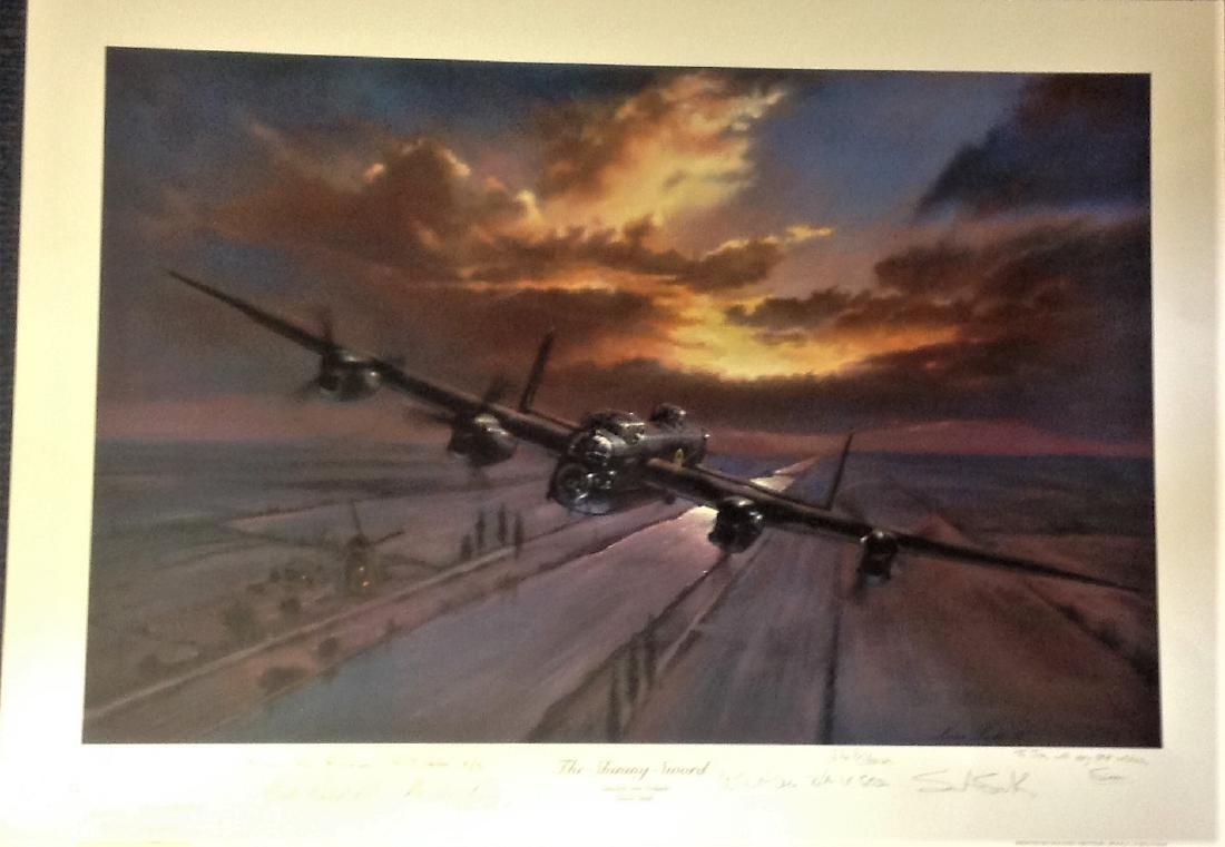 World War Two 17x24 print titled The Shinning Sword